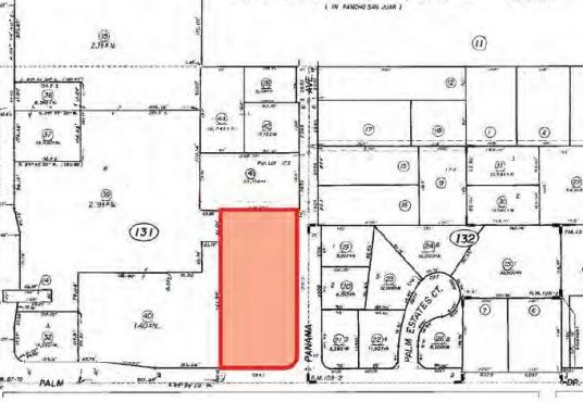 5945 Palm Drive parcel map